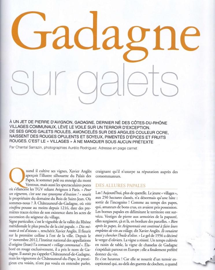 Article Gadagne 2ème page