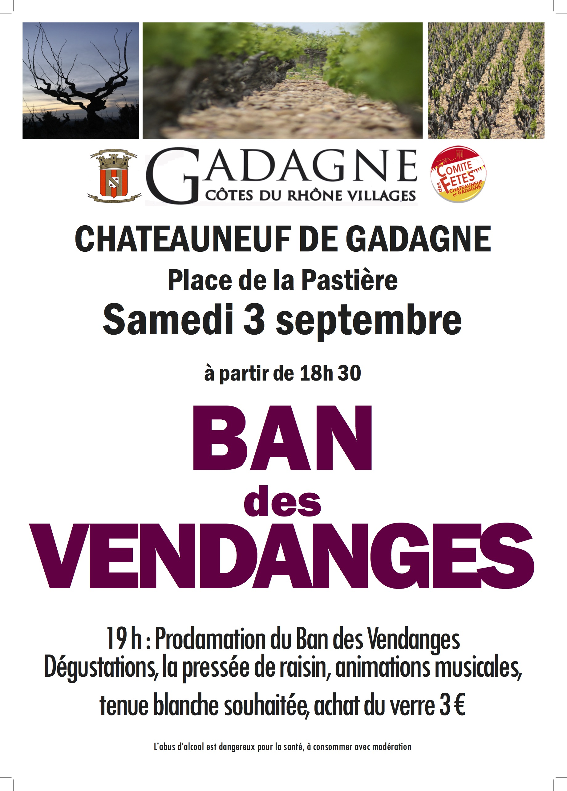 Ban des vendanges Gadagne 2016